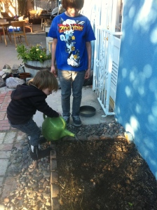 Kids Watering
